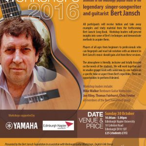 Bert Jansch folk guitar workshop